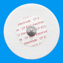 Electrodo de ECG disponible no tejido redondo adulto de la supervisión