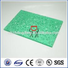 Décoration de salle de bains en polycarbonate feuille gaufrée