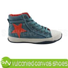 Flat Heel Vulkanisierte Gummi Outsole Canvas Schuhe S-03015
