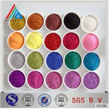 De alta calidad de diversos tamaños y color Metalizado PET película brillo en polvo