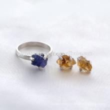 Venta al por mayor 925 de plata esterlina de joyería natural de piedras preciosas de joyería hecha a mano joya bisel proveedor