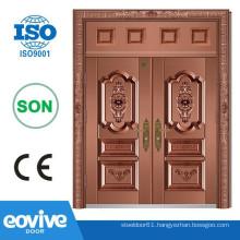 Villa double iron panel design doors