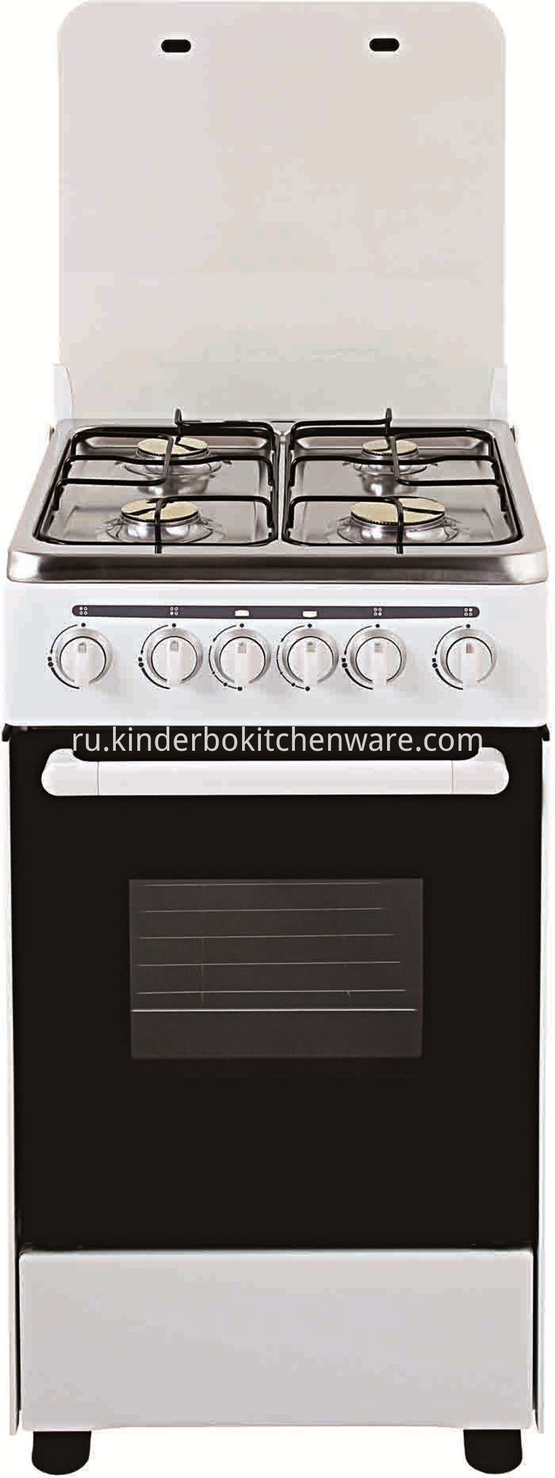4 Burner Gas Range with Electric Oven Pizza Oven