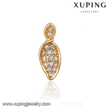 91335 Xuping Popular Fashion high quality Gold Leaf Shaped lady Stud
