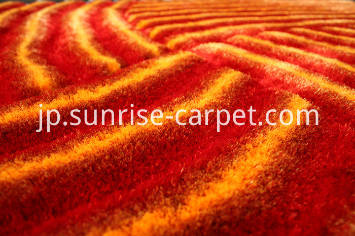 3D Rug with Red and Orange color
