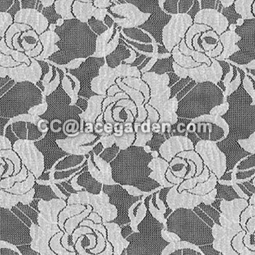 Jacquard Flower Design Lace Fabric