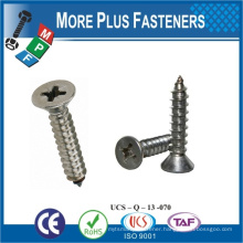 Made In Taiwan Steel Stainless Steel Flat Head Cross Recess Drive Zinc Plated M4~M10 Self Tapping Screw