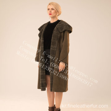 가역 스페인 Merino Shearling Coat Lady