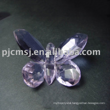 New Design - Novel purple crystal butterfly for Gifts.crystal animal 2015