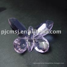 New Design - Novela borboleta de cristal roxo para Gifts.crystal animal 2015