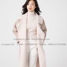 Kvinnor Reversible Cashmere Coat Of Pager Suri Alpaca