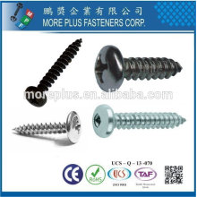 Steel Stainless Steel DIN7981 ISO 7049 Cross Recessed Phil Pan Head Self Tapping Screws Sheet Metal Screws M2*8 Precision Screw