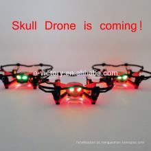 Desconto drone de quadcopter mini temporada venda crânio Drone com luzes Mini quadcopter do rc controle remoto