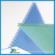 100% nuevo material de aislamiento acústico de policarbonato hoja hueca para carport
