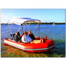 Auffälliges aufblasbares Boot aus PVC-Material, D-förmiger Boden mit hoher Qualität
