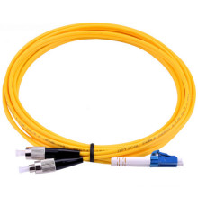 Cabo do remendo da fibra óptica do duplex do único modo de ST-LC do fabricante de China