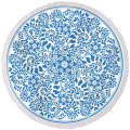 Chinese traditional blue and white porcelain style pattern with tassels Round Beach Towel RBT-147