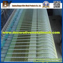 Malha de arame decorativo para decoração externa aplicar a grades de proteção