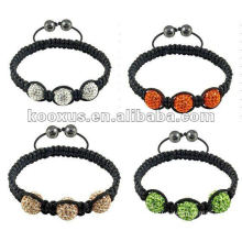 disco clay ball shamballa bracelet jewelry