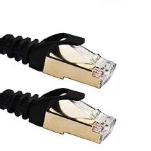 Cat7 Shielded RJ45 cabo de patch Ethernet com plug banhado a ouro