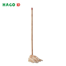 Cheap Microfiber Floor Wet Mop with Wooden Stick