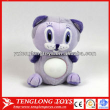 New design 4 colors changing stuffed cat animal plush night light toys