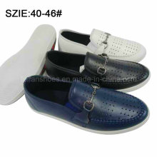 New Style Men′s Slip on Breathable Casual Leather Shoes (MP16721-14)