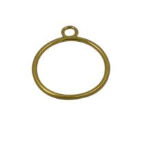 Alta qualidade personalizado de metal ouro anel zíper puxar