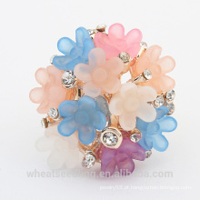 2015 moda candy cor grande flor anel