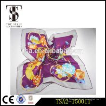 Écharpe couleur violette écolle élégante d'arbre-pianie écharpe en soie couleur solide à vendre