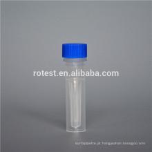 Laboratório químico fornece tubo criogênico de 0,5 ml