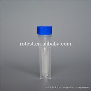 Tubo criogénico plástico 0.5ml