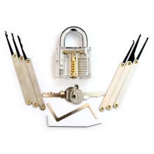 Cadeado de Prática Transparente com Ferramentas Lockpicking 8PC (Combo 8-A)