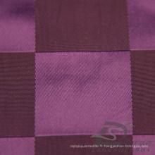Veste imperméable à l'eau et au vent Tissé Dobby Plaid Jacquard 57% Polyester 43% Nylon Blend-Weaving Intertexture Fabric (H012)