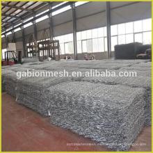 Malla de alambre de gavión hexagonal galvanizado / Malla de protección gabión / Malla de malla de gabión