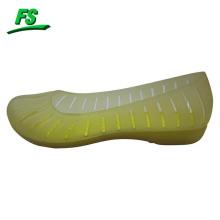 ladies translucent color eva flat shoes