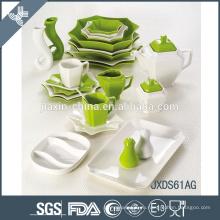 Экологически чистая керамическая посуда ручной раскраски, окрашенная вручную