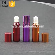 Rouleau en plastique de 4ml sur la bouteille vide de déodorant avec le revêtement UV