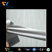 EN471 alta luz gris plata 4 vías tela elástica reflexiva para la ropa activa