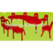 2016 novo item para crianças mesa de plástico e cadeira conjunto mesa redonda