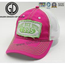 2016 Art und Weise hochwertiger Stickerei-Flecken-waschender Baumwollsport-Fernlastfahrer-Hut / Baseballmütze