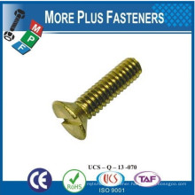 Made in Taiwan Screw and Nut with Brass Material