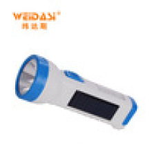 Lampe-torche rechargeable de torche de LED de panneau solaire d'exportation directe d'usine avec la lumière latérale