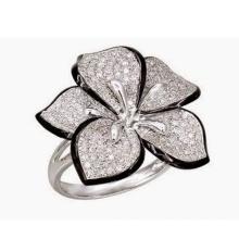 Micro Set 925 Sterling Silber Ring Schmuck mit Diamant