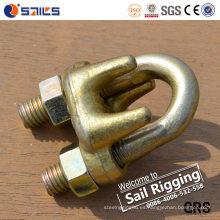 Abrazadera cruzada de hierro maleable Clip de cuerda de alambre tipo a