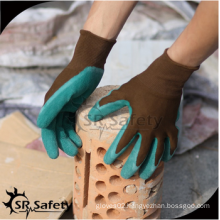 SRSAFETY cheap price/crinkle latex coated rugged wear work gloves/hand gloves
