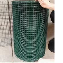 rouleaux de treillis soudés enduits de PVC de couleur verte de Chine