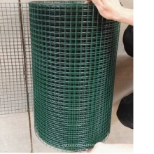 cor verde revestido de pvc soldada rolos de malha de arame a partir de China