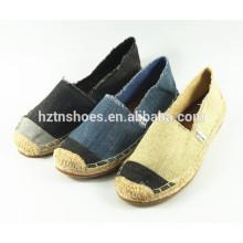 High quality women casual shoe jute sole espadrille shoe