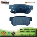 disc brake pads, OE quality, manufacturer hot sales auto parts(OE: 58302-17A00 / FMSI: D813-7688)
